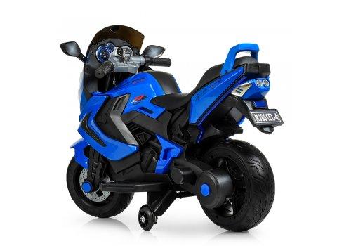 Детский двухколесный мотоцикл BMW с мягкими EVA колесами M 3681EL-4 синий