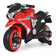 Детский мотоцикл на аккумуляторе Bambi M 3682L-3 красный
