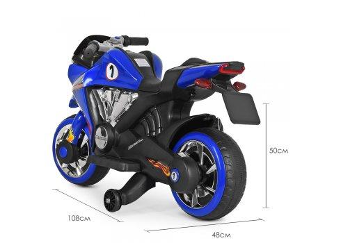Детский мотоцикл на аккумуляторе Bambi M 3682L-4 синий