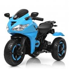 Детский трехколесный электромотоцикл Bambi M 3683L-4 синий