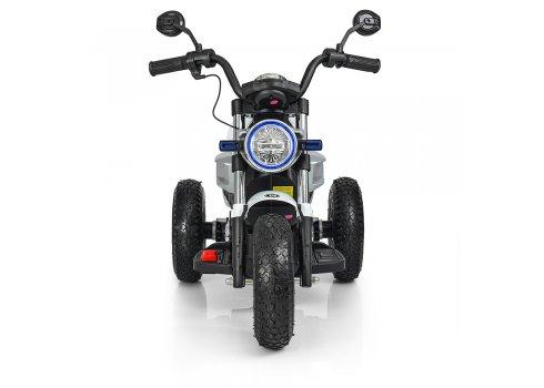 Детский двухмоторный мотоцикл BMW на надувных колесах M 3687AL-1 белый