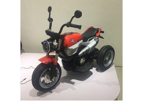 Детский двухмоторный мотоцикл BMW на надувных колесах M 3687AL-3 красный