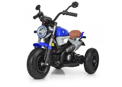 Детский двухмоторный мотоцикл BMW на надувных колесах M 3687AL-4 синий