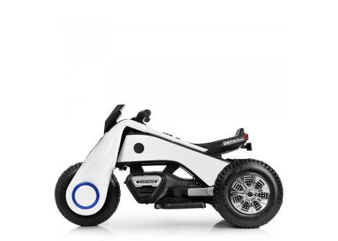Детский трехколесный мотоцикл BMW Hurricane на резиновых колесах M 3926A-1 белый