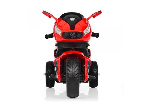 Детский электромобиль мотоцикл с 2-мя мощными моторами M 3965EL-3 красный