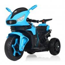 Детский электромобиль мотоцикл с 2-мя мощными моторами M 3965EL-4 синий