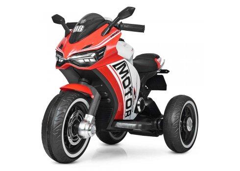 Детский трехколесный мотоцикл на аккумуляторе M 4053L-3 красный