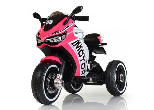 Детский трехколесный мотоцикл на аккумуляторе M 4053L-8 розовый
