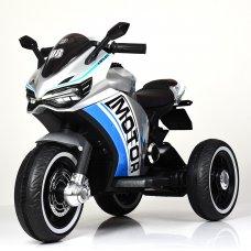 Детский трехколесный мотоцикл на аккумуляторе M 4053LS-11 серый автопокраска