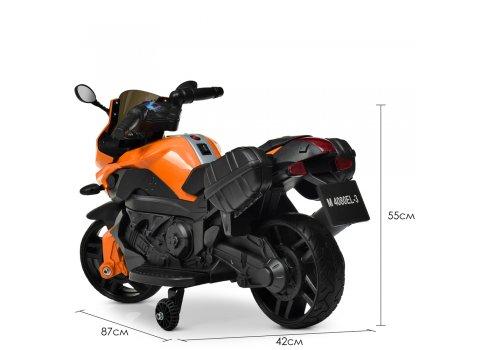 Детский двухколесный электрический мотоцикл Bambi M 4080EL-7 оранжевый