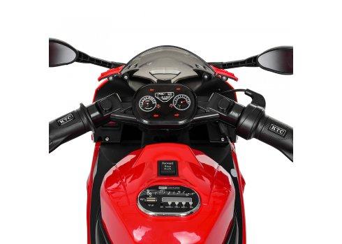 Детский электроМотоцикл с подсветкой колес Bambi M 4103-3 красный