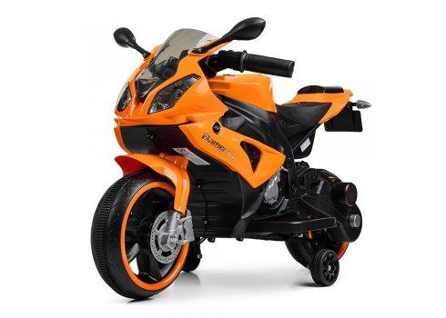 Детский электроМотоцикл с подсветкой колес Bambi M 4103-7 оранжевый