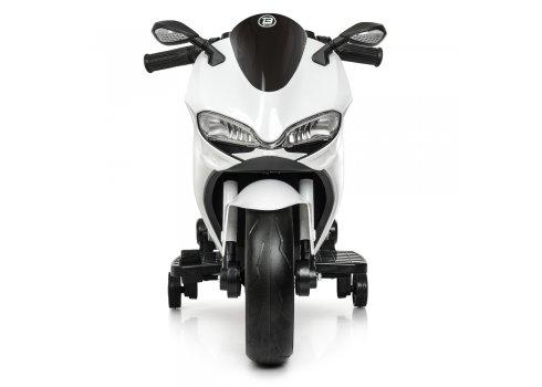 Детский двухколесный электромотоцикл с Led-подсветкой Bambi M 4104EL-1 белый