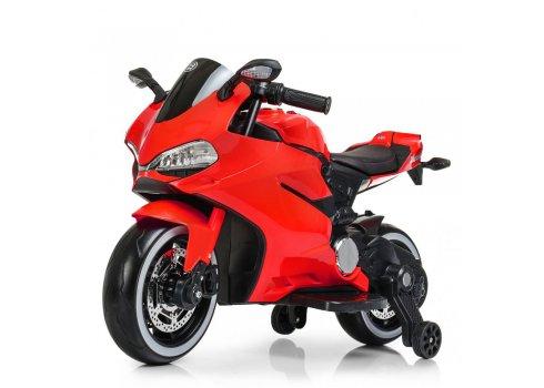 Детский двухколесный электромотоцикл с Led-подсветкой Bambi M 4104EL-3 красный