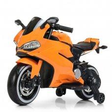 Детский двухколесный электромотоцикл с Led-подсветкой Bambi M 4104EL-7 оранжевый