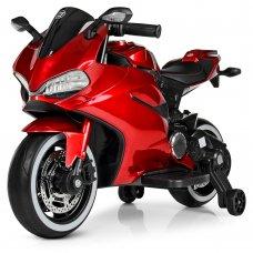Детский электромобиль мотоцикл с LED-подсветкой колес Bambi M 4104ELS-3 красный покраска