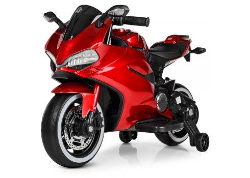Детский электромобиль мотоцикл с LED-подсветкой колес Bambi M 4104ELS-3 красный покраска УЦЕНКА