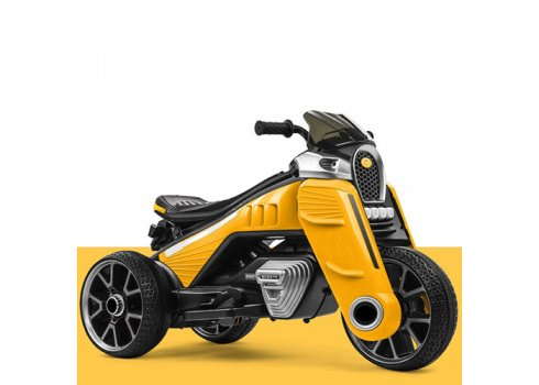 Детский трехколесный электромотоцикл M 4113EL-6 желтый