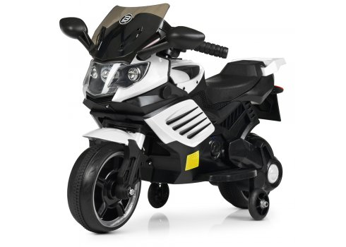Детский двухколесный электрический мотоцикл Bambi M 4116-1 белый