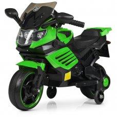 Детский двухколесный электрический мотоцикл Bambi M 4116-5 зеленый