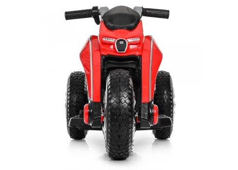 Детский трехколесный мотоцикл с резиновыми колесами Bambi M 4134A-3 красный