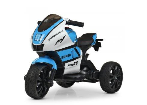 Детский трехколесный мотоцикл Yamaha Bambi M 4135EL-1-4 сине-белый