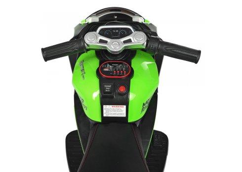 Детский трехколесный мотоцикл Yamaha Bambi M 4135EL-1-5 зелено-белый