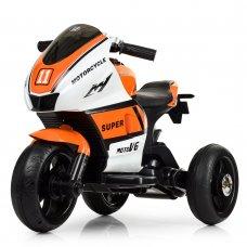 Детский трехколесный мотоцикл Yamaha Bambi M 4135EL-1-7 оранжево-белый