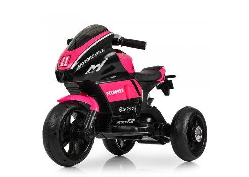 Детский трехколесный мотоцикл Yamaha Bambi M 4135EL-8 розовый