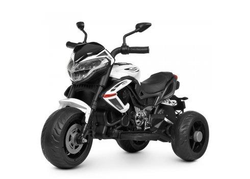 Деткий трехколесный мотоцикл Bambi M 4152EL-1 белый