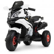 Детский мотоцикл на надувных колесах для детей от 3 лет Bambi Racer M 4188AL-1 белый