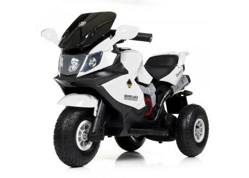 Детский трехколесный электромотоцикл на надувных колесах Bambi M 4189AL-1 белый