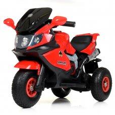 Детский трехколесный электромотоцикл на надувных колесах Bambi M 4189AL-3 красный