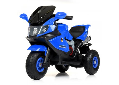 Детский трехколесный электромотоцикл на надувных колесах Bambi M 4189AL-4 синий