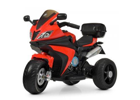 Детский трехколесный электромотоцикл Bambi M 4195EL-3 красный