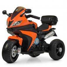 Детский трехколесный электромотоцикл Bambi M 4195EL-7 оранжевый