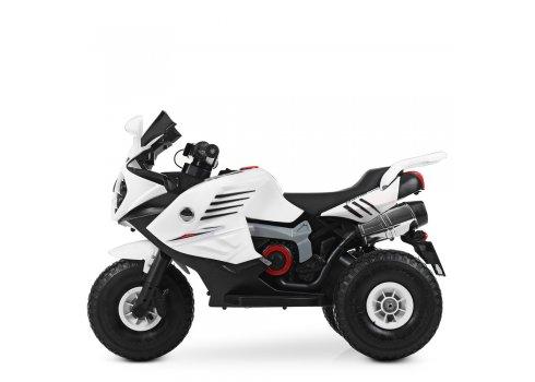 Детский трехколесный мотоцикл на резиновых колесах Bambi M 4216AL-1 белый