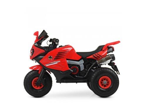Детский трехколесный мотоцикл на резиновых колесах Bambi M 4216AL-3 красный