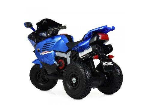 Детский трехколесный мотоцикл на резиновых колесах Bambi M 4216AL-4 синий