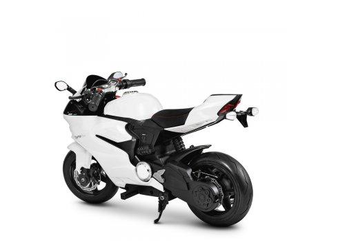 Мотоцикл на аккумуляторе для детей 8-12 лет Bambi Racer M 4262EL-1 белый