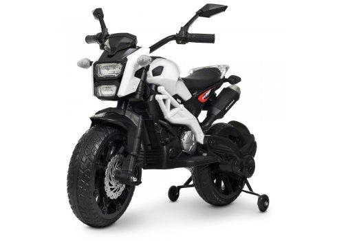 Мотоцикл детский на аккумуляторе Bambi Racer M 4267EL-1 белый