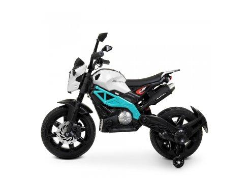 Мотоцикл детский на аккумуляторе Bambi Racer M 4267EL-1-4 бело-синий