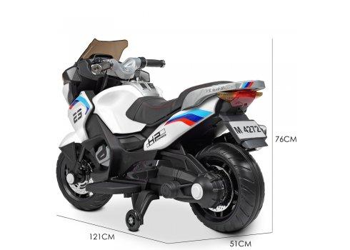 Детский мотоцикл на аккумуляторе Bambi Racer M 4272EL-1 белый