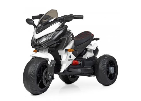 Детский трехколесный мотоцикл на аккумуляторе Bambi M 4274EL-1 белый