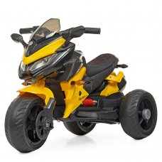 Детский трехколесный мотоцикл на аккумуляторе Bambi M 4274EL-6 желтый