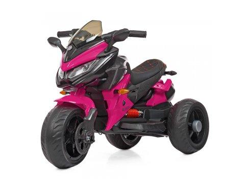 Детский трехколесный мотоцикл на аккумуляторе Bambi M 4274EL-8 розовый