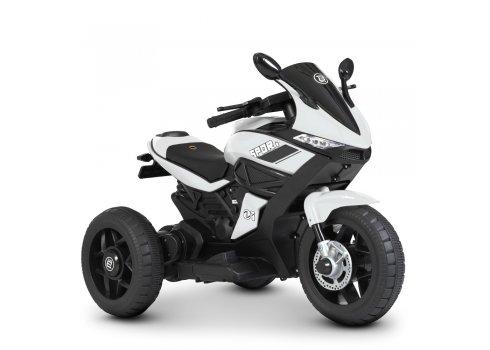 Детский трехколесный мотоцикл на аккумуляторе Bambi Racer M 4454L-1 белый