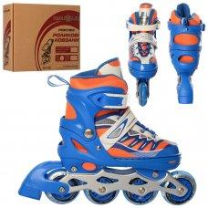 Детские раздвижные ролики размер 35-38 Profi A4122-M-BL синий