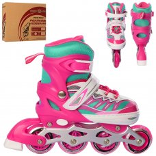 Детские раздвижные ролики размер 35-38 Profi A4122-M-P розовый