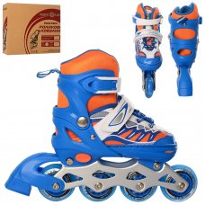 Детские раздвижные ролики размер 31-34 Profi A4122-S-BL синий